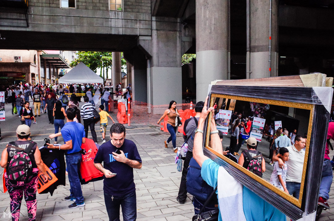 Street Scene in Medellin Colombia
