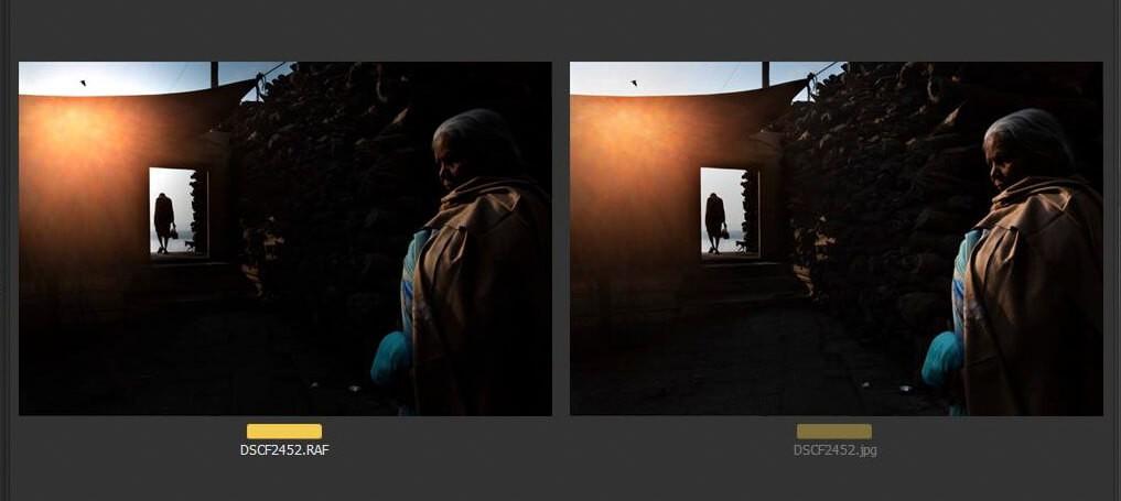 Varanasi 2019, Image Post Processing before and after, Photo by Muhammad Imam Hasan.