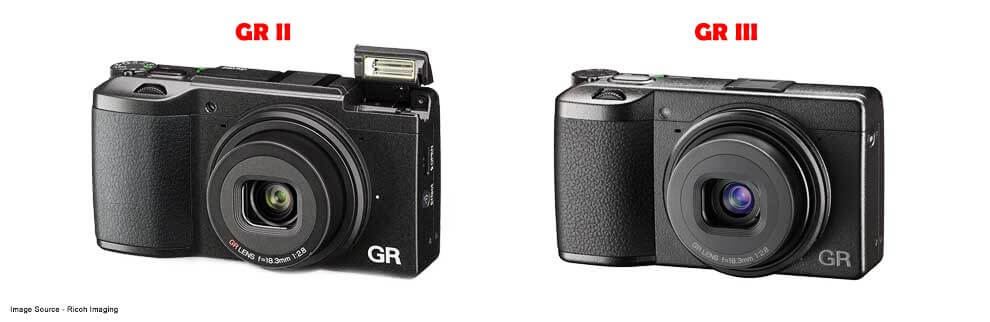 Ricoh GR II vs GR III Comparison Front